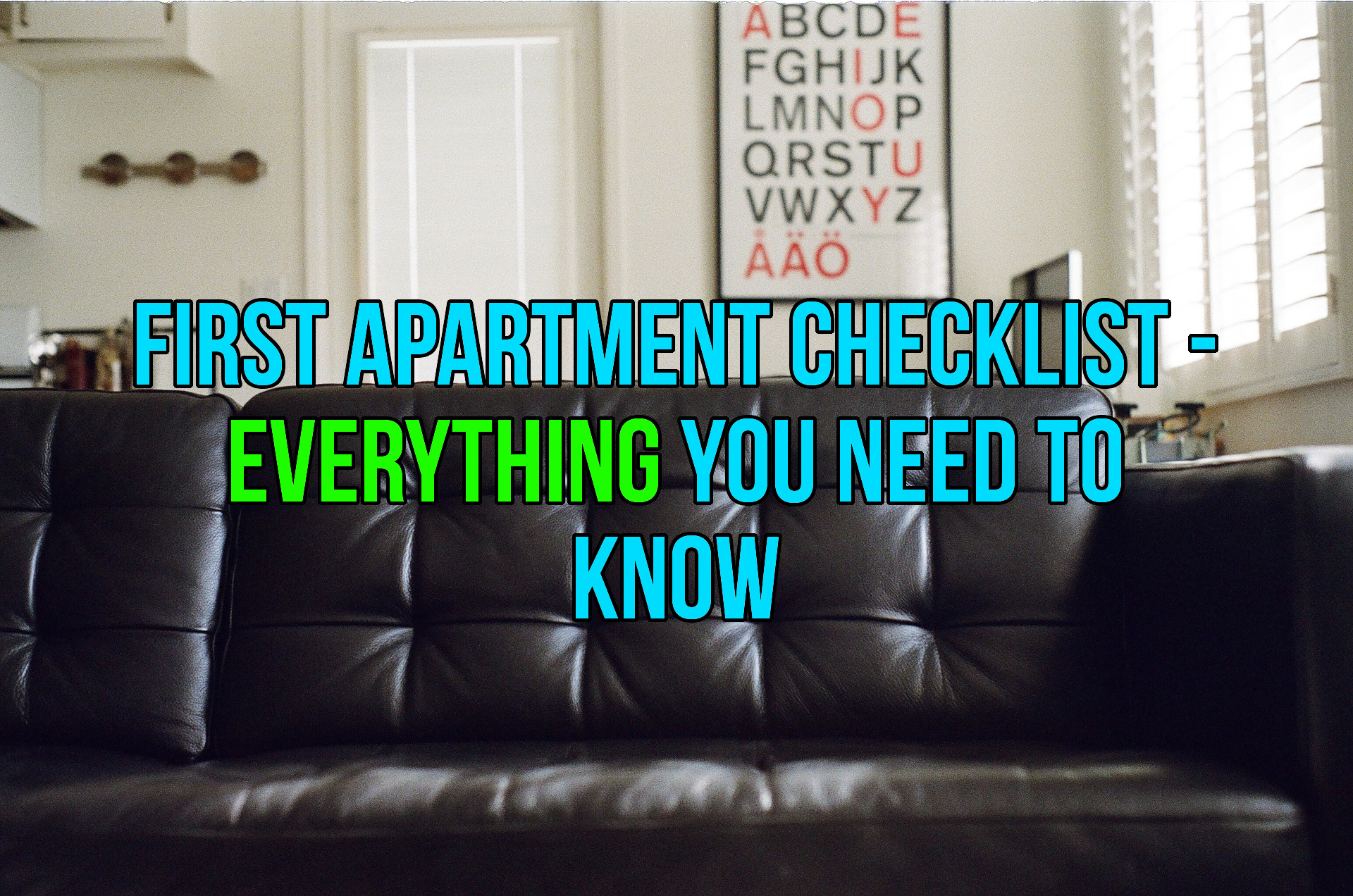 First Apartment Checklist